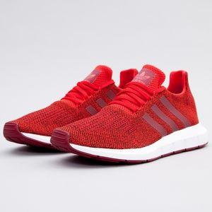 Adidas Men's Red Swift Run Shoes